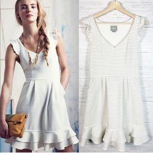 Maeve • Sunland Striped Flounce Dress 12